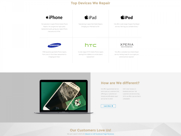 GeekAid Repairs Website Design