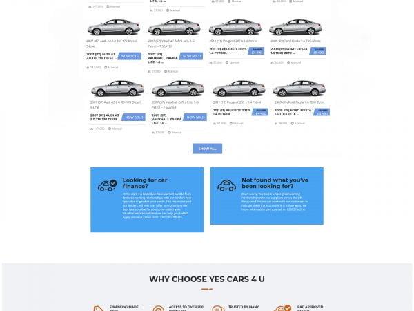 Yes Cars 4 u Ltd Website Design